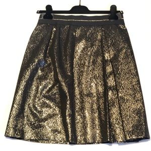 Vince Camuto black and golden metallic skirt